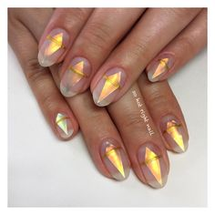 Nail art - frosted spears
