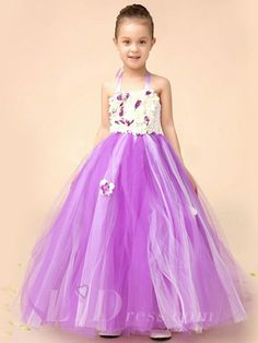 Little Girls Purple Performance Dress Flower Girls TuTu Skirt
