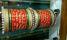 Indian Jewelry Earrings, Indian Wedding Jewelry, Hand Jewelry, Jewelery, Indian Bangles, Wedding Chura, Wedding Reception, Rajasthani Dress, Bridal Chuda