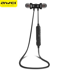 Awei A980BL Smart Wireless Sport Earphone Bluetooth 4.0 Sports Stereo In-ear Earphone Voice control Noise Reduction with Mic
