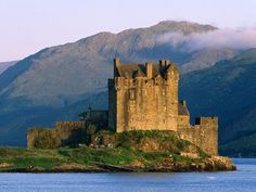 #Castles: Eilean Donan Castle, #Scotland. The castle is on a tidal island in Loch Duich.