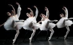 Paris Opera Ballet in Lifar's 'Suite en Blanc.' Photo ©Alexander Natruskin.