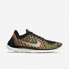 newest 7e913 ad2ff  81.46 nike flyknit free 4.0 black,Nike Womens Black Hyper  Orange University Blue Sail Free 4.0 Flyknit Running Shoe