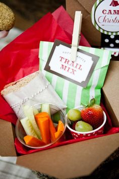 Love these lunch/dinner boxes for a camping party.
