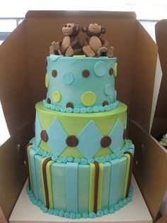 shower cake for twin boys by amaneb34, via Flickr