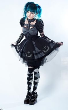 punk Lolita I like the cross piece/collar. maybe go more ero and have bodybinds instead of fabric