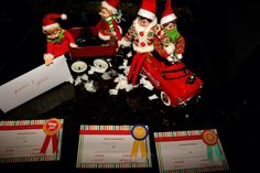 Awards for good behavior from our elves.. And brought back snow down the chimney.