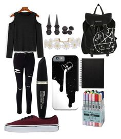 """My style"" by pattylina on Polyvore featuring Vans, Miss Selfridge, Hot Topic, Max Factor and Humble Chic"