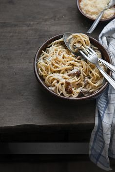➳ Some good old pasta with parmesan #pasta #spagetti #parmesan
