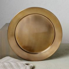 Metal Charger - Gold | west elm