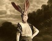 Jane Eare - Vintage Rabbit 5x7 Print - Anthropomorphic