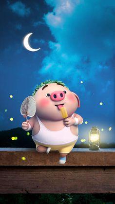 so hot Pig Wallpaper, Snoopy Wallpaper, Cute Disney Wallpaper, Cute Cartoon Wallpapers, Cute Piglets, Wonder Art, Pig Illustration, Funny Pigs, Animated Dragon