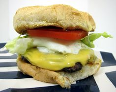I love a fried egg on a burger-my fave!  Cadillac Burgers | Plain Chicken