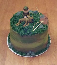 Bow Hunting Cake For Groom Cake just make on larger scale.