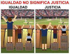 Y ¿qué es más importante para una escuela inclusiva, igualdad o justicia?