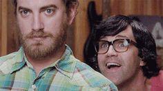 "Links face is just like meeting his celeb hero/crush during an interview and like HAAAAAAAAAHHHHH (heavenly music) and Rhett is just like "" Ya, I shave everyday"""