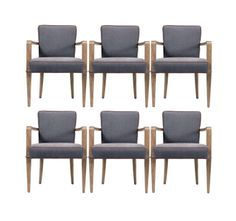 Jacques Quinet, Set of Six Dining Armchairs   From a unique collection of antique and modern dining room chairs at http://www.1stdibs.com/furniture/seating/dining-room-chairs/