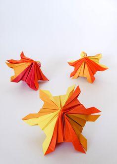 origami snowflake 2( diseño de Leandro Carlos MADUEÑO)