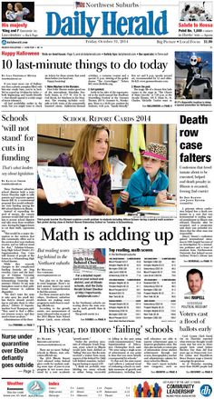 Daily Herald front page, Oct. 31, 2014; http://eedition.dailyherald.com/