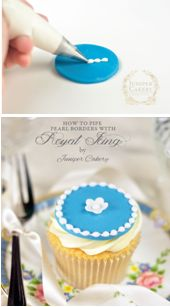 How to pipe borders with royal icing (Juniper Cakery). Very pretty effect.