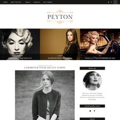 Responsive Blogger Template - Peyton by Georgia Lou Studios on Creative Market