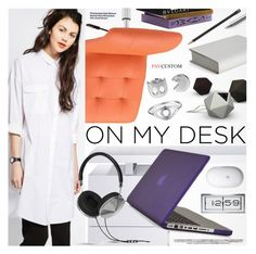 """""""What's on My Desk?"""" by paycustom-fashion ❤ liked on Polyvore featuring interior, interiors, interior design, home, home decor, interior decorating, Modway, Bellini, Speck and LEFF Amsterdam"""