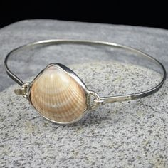 Beach Combed Seashell Clam Shell Bracelet in Sterling Silver