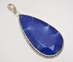 Vintage Look Blue Sapphire Sterling Silver Plated Pendant Gift Ideas For Her A1 #valueforbucks #Pendant