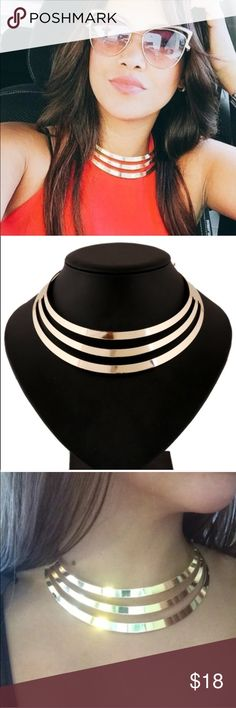 Gold choker necklace New Jewelry Necklaces