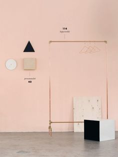 copper clothes rack - weekday carnival
