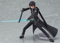 The star of the show! Kirito Figma from the popular anime show Sword Art Online. This is the complete package. It comes with multiple faces, hands and weapons (see photos for more information). The le