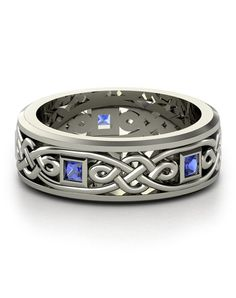 """OHhhh mY... Celtic knots AND sapphires??    """"#TheKnot"""" & """"#DreamEngagementRing"""""""