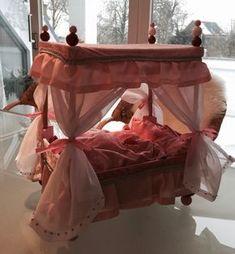Prinzessinnen-Himmelbett aus einer Mandarinenkisten