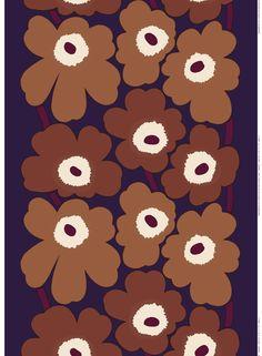 Unikko HW sateen fabric by Marimekko Marimekko Wallpaper, Marimekko Fabric, Painting Wallpaper, Fabric Painting, Textures Patterns, Print Patterns, Floral Patterns, Colours That Go Together, African Textiles