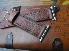 Apple watch band leather brown leather strap 42mm apple by GORIANI