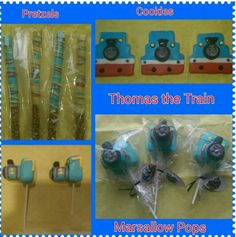 Thomas the Train Cookies & Marshmallow Pops