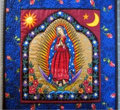 Our Lady of Guadalupe Quilt // Wall Quilt // Mexican Saint Quilt // Catholic Quilt. $30.00, via Etsy.
