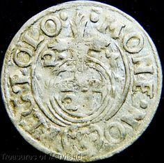 POLAND 1623 Silver 3 POLKER 1/24 Thaler sku #PL21 17th Century, Poland, Medieval, Coins, Silver, Ebay, Rooms, Mid Century, Middle Ages