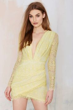 Havana Lace Dress - Yellow | Shop Clothes at Nasty Gal!