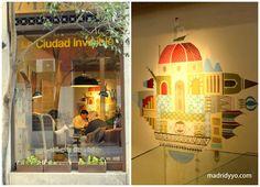 la ciudad invisible - café librería especializado en viajes   Costanilla de los Ángeles 7