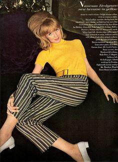Vanessa Redgrave - US Vogue August 1, 1966 by ilookatyouwithfeelings, via Flickr