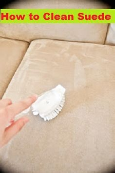 How to clean suede couches