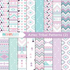 Digital Paper Tribal 2 / American Indian / by MyClipArtStore