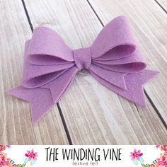 Large Lavender Purple Felt Double Bow Headband/Clip/Barrette for Baby, Child, Teen, or Adult - Custo