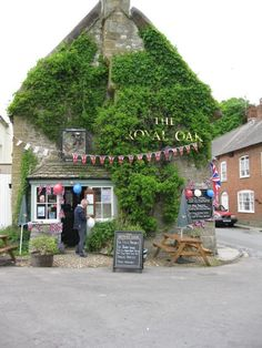 The Royal Oak, Cerne Abbas, Dorset, England. This place is lovely. One of Britain's true old traditional pubs. These places are sadly dying out fast!