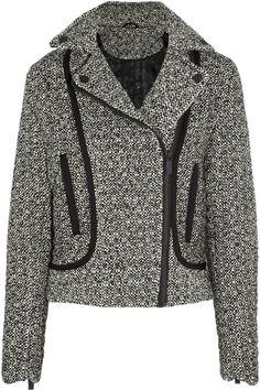 Karl Lagerfeld|Burel sateen-trimmed tweed jacket|NET-A-PORTER.COM