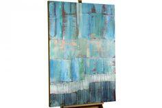 """""""Abstrakt Blau Türkis Petrol modern Acryl Gemälde Öl Bild Ölgemälde """""""