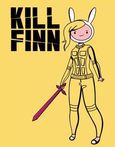 Hora de Aventuras + Kill Bill.