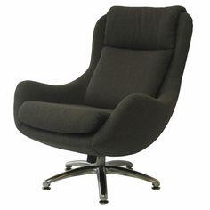 Overman Originals Jupiter Swivel Chair (Charcoal)