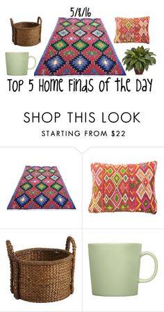 """""""Top 5 Home Finds of the Day"""" by maggie-johnston ❤ liked on Polyvore featuring interior, interiors, interior design, home, home decor, interior decorating, Pier 1 Imports, iittala and Nearly Natural"""